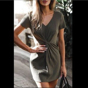 NEW Olive Green Mini Dress Never Been Worn